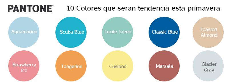 Colores que serán tendencia esta primavera verano 2015